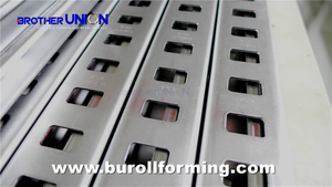 Press & Punch HOLE PROFILE in Roll Forming Process06